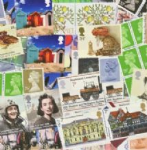 £100 Face Value Bag of Discount GB Postage Stamps up to 68p